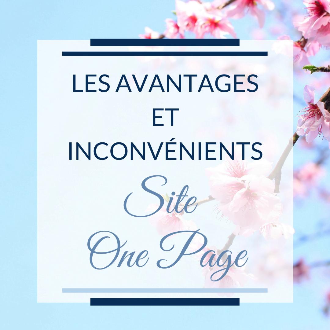 Les avantages et inconvénients d'un site One-Page